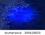 drawing modern electronic...   Shutterstock .eps vector #340618820