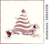 christmas tree  | Shutterstock .eps vector #340619258