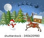 merry christmas card.... | Shutterstock .eps vector #340620980