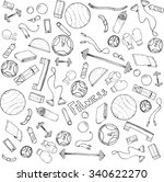sketch hand drawn background... | Shutterstock .eps vector #340622270