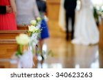 beautiful flower wedding... | Shutterstock . vector #340623263