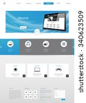 modern clean business website... | Shutterstock .eps vector #340623509
