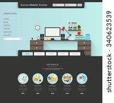 modern clean business website... | Shutterstock .eps vector #340623539