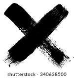 x marks .handwritten letter .... | Shutterstock .eps vector #340638500