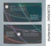 stylish business cards with... | Shutterstock .eps vector #340638728