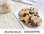 homemade oatmeal cookies on a...   Shutterstock . vector #340644998