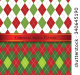Christmas Argyle Pattern Desig...