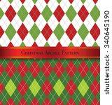 Christmas Argyle Pattern Desig...