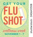 get your flu shot wellness week ... | Shutterstock .eps vector #340645508