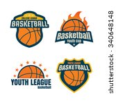 basketball logotype  ... | Shutterstock .eps vector #340648148