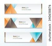 set bright modern abstract... | Shutterstock .eps vector #340658876