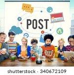 post blog social media share...   Shutterstock . vector #340672109