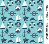 seamless marine pattern. sea...   Shutterstock .eps vector #340674989