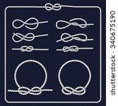 rope knots collection.... | Shutterstock .eps vector #340675190