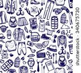 hipster lifestyle distinctive... | Shutterstock .eps vector #340675730