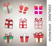 gift box icons vector...