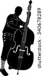 musician playing the double bass | Shutterstock .eps vector #340678289