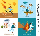 natural disasters safety design ... | Shutterstock .eps vector #340678424