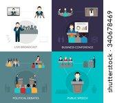 public speaking design concept... | Shutterstock .eps vector #340678469