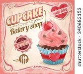 cupcake love | Shutterstock .eps vector #340682153