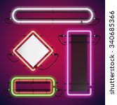 Neon Lights Rectangle Frames...