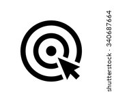 choice icon. cursor in the... | Shutterstock .eps vector #340687664
