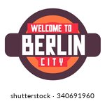berlin city in germany is a... | Shutterstock .eps vector #340691960
