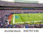 Small photo of A blurred out of focus background effect, New York, American Football Game