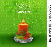 green holidays background with... | Shutterstock .eps vector #340710968