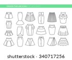 fashion thin line icons. set... | Shutterstock .eps vector #340717256