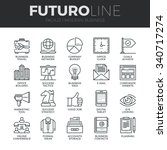 modern thin line icons set of... | Shutterstock .eps vector #340717274