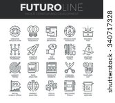 modern thin line icons set of... | Shutterstock .eps vector #340717328