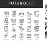 modern thin line icons set of... | Shutterstock .eps vector #340717400