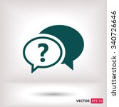 chat  question  icon. one of... | Shutterstock .eps vector #340726646