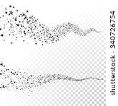 vector glittering stars dust... | Shutterstock .eps vector #340726754