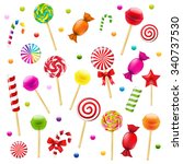 big candy set with gradient... | Shutterstock .eps vector #340737530