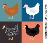 set of illustrations with... | Shutterstock .eps vector #340739498