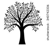 tree with leaves vector | Shutterstock .eps vector #340742336