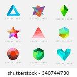 trendy crystal triangulated gem ...   Shutterstock .eps vector #340744730