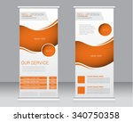 roll up banner stand template.... | Shutterstock .eps vector #340750358