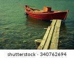 Red Mediterranean Fishing Boat...