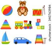 vector illustration with... | Shutterstock .eps vector #340763984