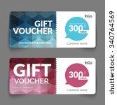gift voucher discount template... | Shutterstock .eps vector #340764569