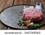 Raw Minced Meat For Cooking...