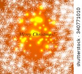 merry christmas and happy new... | Shutterstock .eps vector #340771010