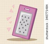 kitchenware peeler theme... | Shutterstock .eps vector #340771484