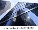 modern glass and steel office... | Shutterstock . vector #340778333