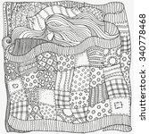 pattern for coloring book.... | Shutterstock .eps vector #340778468