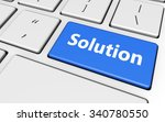 solution sign and letters on a... | Shutterstock . vector #340780550