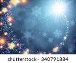Blue Sparkling Background With...